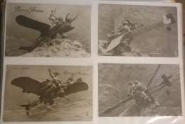 Lot De 4 Cartes Postales / Aéroplane Sculptographie D. MASTROIANNI /64 - Sculptures
