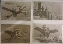 Lot De 4 Cartes Postales / Aéroplane Sculptographie D. MASTROIANNI /65 - Sculptures