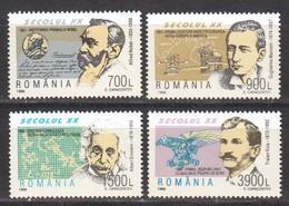 Rumänien; 1998; Michel 5299/302 **; Aniversari, Einstein, Vuia, Marconi Und Nobel - 1948-.... Republics