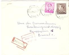 Belgique 1968 - Lettre Recommandée GROOT BIJGARDEN - Brabant Flamand - Leopold Poortman - Baudouin - Cob 848A, 1067 - Belgique