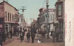 Nome Alaska, Front Street, Business District C1900s Vintage Postcard - United States