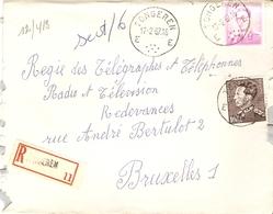 Belgique 1967 - Lettre Recommandée TONGEREN - Limbourg - Leopold Poortman - Baudouin Lunettes - Cob 848A, 1067 - Belgique