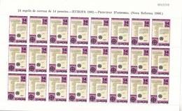 Andorra Española Nº 157 Al 158 En Pliegos De 24 Series - Neufs
