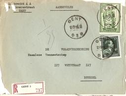 Belgique 1956 - Devant D'enveloppe  Recommandée GENT - Flandre Orientale -  Léopold Col Ouvert V - Europa - Cob 696, 994 - Belgique