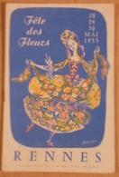 Jc1.n- RENNES Fete Des Fleurs 1955 Monique Racape Reine Défilé Carnaval Mi-careme Corso-fleuri - Carnival