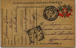 4216 - Italie - Militaria - CARTOLINA In FRANCHIGIA - CENSURE - Trouppe Occupazione  NOVARA   Circulée En 1917 - Italie
