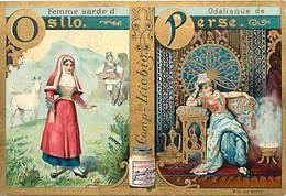 CH272 -chromo Liebig -femme Sarde D Osilo - Odalisque De Perse - Iran - Fond Doré - Dorure - - Liebig