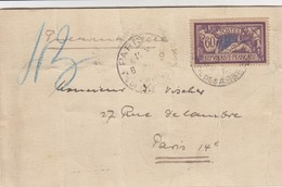 LETTRE. COVER. FRANCE. 1920. N° 144 MERSON 60c PNEUMATIQUE   /    4 - Briefmarken