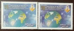 O) 2004 CHILE,  GRAND MASONIC LODGES -SEVENTH WORLD CONFERENCE, MNH - Chile