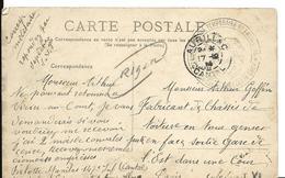 AURILLAC Cantal Guerre 14 18 Cachet 13° Corps D'Armée Hôpital Temporaire N° 1 Noir 1914 - Marcophilie (Lettres)