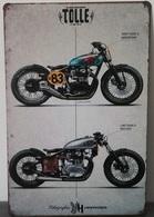 Rare Plaque Tôle Moto TOLLE Original SWEDISH Since 1979 Style EMAIL 20X30 VINTAGE - Motos