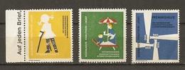 Allemagne  - Sozialhilfe Krautheim Jagst - Petit Lot De 3 Vignettes - 2 MNH - 1 NSG - Erinnophilie