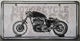 Rare Plaque Tôle HARLEY MOTORCYCLE CUSTOM Style EMAIL 15X30 VINTAGE ROUTE 66 USA - Motos