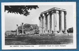 GREEK GREECE ATHENES TEMPLE DE JUPITER OLYMPIEN 1948 - Grecia