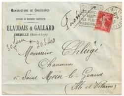 Tarif Enveloppe Ouverte, DAGUIN CHEMILLE Maine Et Loire. ELAUDAIS & GALLARD Manufacture De Chaussures. 1927 - Marcophilie (Lettres)