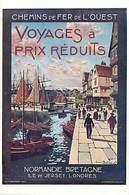 -ref-B113- Royaume Uni - Ile Of Jersey - Chemins De Fer De L Ouest -illustrateur Robert Boullier 1905 - Illustrateurs - - Angleterre