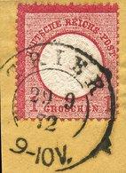 PREUSSEN K2 TRIER AUF DR 19 BRIEFSTÜCK 9/1872, PRACHT - Prusse