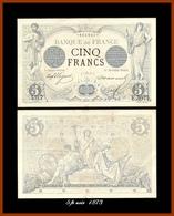 Rare 5 Francs Noir 4. Sept.1973 TTB+ - 1871-1952 Anciens Francs Circulés Au XXème