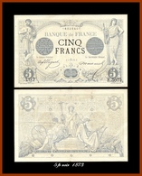 Rare 5 Francs Noir 4. Sept.1973 TTB+ - 1871-1952 Antichi Franchi Circolanti Nel XX Secolo
