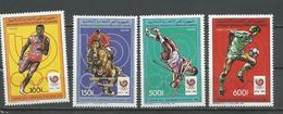 COMORES Scott 645 647 650 651 Yvert 461-463 PA246 (4) ** Cote 11,00 $ 1988 - Comores (1975-...)