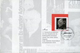 "Bundesrepublik Deutschland / 1992 / Folder ""25. Todestag Konrad Adenauer"" (4/505-20) - [7] République Fédérale"