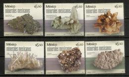 MEXIQUE.Sulfure D'argent,Carbonate De Magnésium,sulfate De Calcium,sulfure De Plomb,oxyde De Silicium,etc. Neufs ** - Minerals
