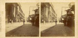 °°° Foto Stereoscopiche Messina Corso Cavour - Al Verso Panorama Senza Nome °°° - Messina
