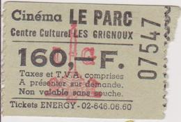 LIEGE, BELGIE  --  CINEMA LE PARC --  19 X  CINEMA  TICKET - Tickets D'entrée