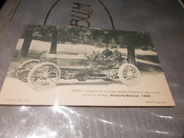 CPA ANIMEE - AUTOMOBILE - THERY SUR SA RICHARD BRASIER - 1905 - Voitures De Tourisme