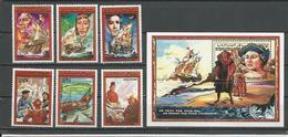 COMORES Scott 657-662 663 Yvert 468-471 PA253-PA254 BF50 (6+bloc) ** Cote 21,50 $ 1988 - Comores (1975-...)