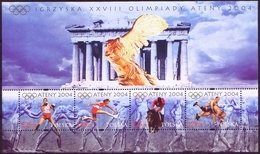 POLAND 2004 Mi Bl.160 Olympic Games Athens. Boxing, Wrestling, Horse Riding,  MNH**W125 - Nuovi