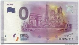 Billet Touristique 0 Euro  2016 - Paris  Arc De Triomphe,Tour Eiffel,  Notre Dame - EURO