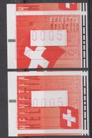 ATM Schweiz, Typ 20-21 Seltenen Abart - Franqueo
