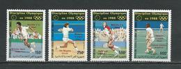 COMORES Scott C183-C186 Yvert PA255-PA258 (4) ** Cote 14,25 $ 1988 SURCHARGES - Comores (1975-...)