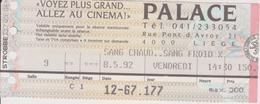 LIEGE, BELGIE  --  CINEMA PALACE, CINEMA CONCORDE, OPERA   --  31 +3 + 12  ~~  46  TICKET - Eintrittskarten