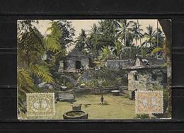 1927 Indias Holandesas Indonesia Tarjeta Postal Circulada - India