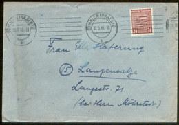 09093 SBZ 82 X EF Brief Halle Saale - Langensalza 1946 - Zone Soviétique
