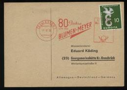 S2114 BRD ,Firmenkarte Europa CEPT + Freistempel,gebraucht Essen - Georgsmarienhütte 1959, Bedarfserhaltung. - [7] République Fédérale