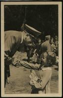 P0328 - DR Propaganda Photo Hoffmann Nr. 225 Postkarte Adolf Hitler Mit Mädchen: Ungebraucht. - Deutschland