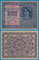 Österreich - Austria 1000 Kronen 1922 AUNC (1-)  Pick 78    (20937 - Oesterreich