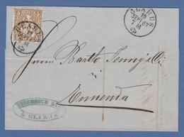 Schweiz Sitzende Helvetia 5 C. Mi.-Nr. 22 Auf Brief Von GLARUS Nach ENNENDA 1867 - Suisse