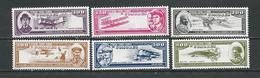 COMORES Scott C187-C192 Yvert PA259-PA264 (6) ** Cote 20,00 $ 1988 - Comores (1975-...)
