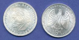 Bundesrepublik 5DM Silber-Gedenkmünze 1970, Ludwig Van Beethoven - [ 7] 1949-… : FRG - Fed. Rep. Germany