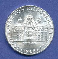 Österreich 25-Schilling Silber-Gedenkmünze 1968, Schloss Belvedere, Hildebrandt - Oesterreich