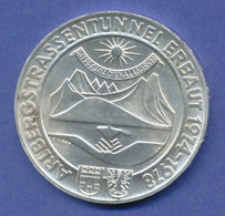 Österreich 100-Schilling Silber-Gedenkmünze 1978, Arlberg-Straßentunnel - Oesterreich