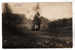 177, FOTO-AK, WK I,  Feldpost, Granateinschlag - Guerra 1914-18