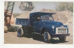 1952? GMC, Medium Duty Truck, 4 Wheeler,  Old Chrome Advertising Postcard, 50 Year Anniversary  Of GMC From 1902-1952 - Transporter & LKW