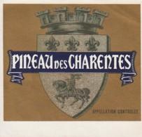 *** ETIQUETTES  ***-   PINEAU DES CHARENTES  étiquette Pour Repiquage - TTB - Vino Blanco