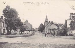 VILLABON - Place Et Grande Rue - A Gauche Café PONCET-CHEVALIER - Autres Communes