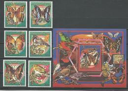 COMORES Scott 686-691 693 Yvert 492-495 PA270-PA271 BF54 (6+bloc) ** Cote 29,00 $ 1989 - Comores (1975-...)